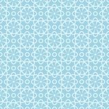 Weißes nahtloses mit Blumenmuster auf blauem Hintergrund Lizenzfreie Stockfotos