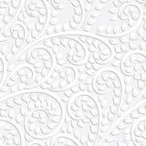Weißes nahtloses mit Blumenmuster des Vektors Lizenzfreie Stockfotografie