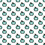 Weißes nahtloses Muster mit Äpfeln Stockfotos