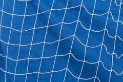 Weißes Netz über blauem Hintergrund Stockfoto