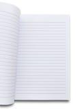 Weißes Notizbuch Lizenzfreies Stockfoto