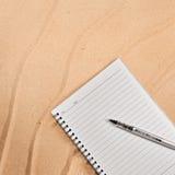 Weißes Notizbuch. Lizenzfreies Stockfoto