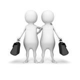 Weißes Partnerschafts-Konzept der Leute-3d Lizenzfreie Stockbilder