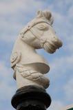 Weißes Pferden-Kopf-Dekoration Stockfotografie