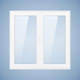 Weißes Plastikfenster Stockfotografie
