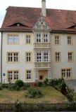 Weißes Portal in der Stadt von Augsburg im Bayern (Deutschland) Stockfotografie