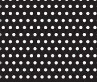 Weißes Punktmuster auf schwarzem Hintergrund Lizenzfreie Stockbilder