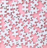 Weißes Puzzle Stockfoto