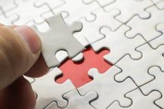Weißes Puzzle Lizenzfreie Stockbilder