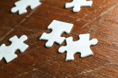 Weißes Puzzle Stockfotografie