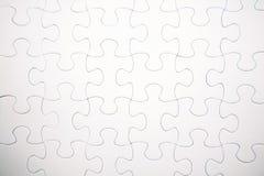 Weißes Puzzlespiel Stockbild