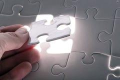 Weißes Puzzlespiel Lizenzfreie Stockbilder