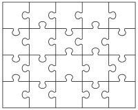 Weißes Puzzlespiel Lizenzfreies Stockfoto