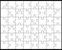 Weißes Puzzlespiel 5 Lizenzfreie Stockfotos