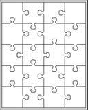 Weißes Puzzlespiel Stockbilder