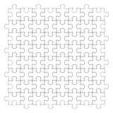 Weißes Puzzlespiel, Vektorillustration Lizenzfreie Stockfotografie