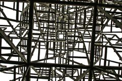 Weißes Quadrat auf dem Hintergrund der chaotischen Strukturen Stockfotografie