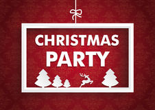 Weißes Rahmen-Rot verziert Weihnachtsfest Stockfotografie