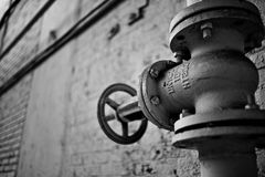 Weißes Rohr-Ventil stockfoto