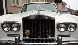 Weißes Rolls Royce stockfoto