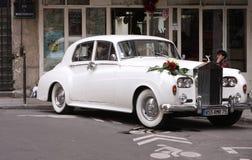 Weißes Rolls Royce Stockfotos