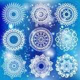 Weißes rundes Verzierungs-Muster Stockfotografie