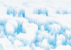 Weißes schneebedecktes Eis stock abbildung