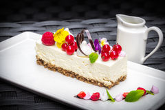 Weißes Schokolade cheescake Stockfotografie