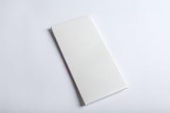 Weißes Schokoriegel-Paketmodell Stockfotos