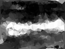 Weißes Schwarzes auf grauem abstraktem polygonalem Hintergrund Lizenzfreie Stockbilder