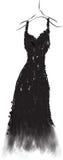 Weißes schwarzes Kleid Lizenzfreie Stockbilder