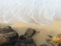Weißes Seeufer Stockfoto