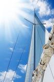 Weißes Segel Stockfoto