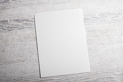 Weißes Seitenmodell des leeren Papiers Lizenzfreies Stockbild