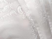 Weißes Spitze-Fenster-Vorhang-abstraktes Muster Lizenzfreie Stockfotografie