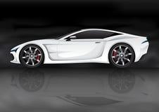 Weißes Sportauto lizenzfreie abbildung