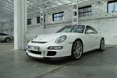 Weißes Sportauto, Porsche 911 GT3 Lizenzfreies Stockbild