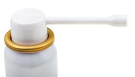 Weißes Spraymundstück der medizinischen Aerosoldose Stockfoto