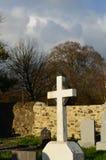 Weißes Steinkreuz in Adare Irland Stockfotografie
