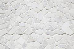 Weißes Steinmosaik Stockbild