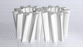 Weißes Stirnradgetriebe Stockfotografie