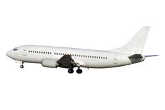 Weißes Strahlenflugzeug lizenzfreie stockfotografie