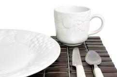 Weißes strukturiertes Porzellan Lizenzfreies Stockbild