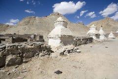 Weißes stupa Lizenzfreies Stockfoto