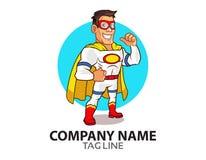 Weißes Superheld-Logo Lizenzfreies Stockfoto