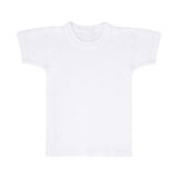 Weißes T-Shirt getrennt Stockfoto