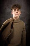Weißes Teenager-Studio-Porträt Stockfotos