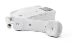 Weißes Telefon stockfoto