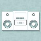 Weißes Tonbandgerät des Vektors Stockbilder