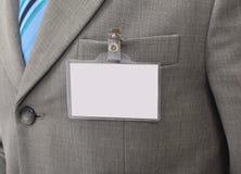 Weißes unbelegtes Abzeichen Lizenzfreie Stockbilder